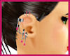 Pink Earring Chain