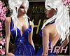 HRH Metallic Blue Gown