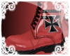 [V] Red IronCross Boots