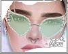 Mint Studded Glasses