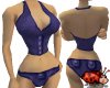 Denim Blue Halter Bikini