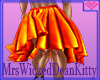 Hula Orange skirt