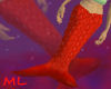 Red Mermaid Tail