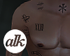 ✱ Muscle Torso Tattoos