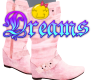 *K BOOTS PINK