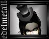 -e- Black Gothic Hat