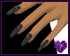 Onyx Dagger Black Nails