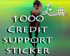 1000 Credit Support