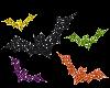 Halloween Glitter Bats