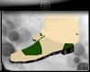 (kk)cream/green shoe men