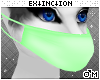 #furry mask: green