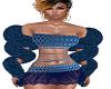 Fur Boa Blue
