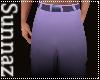 (S1)Black Purple Pants