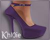 K purple heels