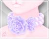 A| Pastel Rose Choker