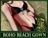 Boho Beach Gown Red