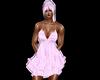 robe courte rose clair