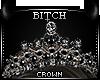 !B Dark Queen Crown -Blk