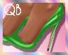 Q~*Green Heels*