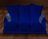 blue cuddle couch