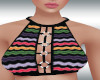 Retro Ring Halter Multi