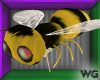 Fuzzy Bee-on-String Pet