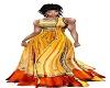 yellow saree lehenga