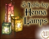3 Table-top Henna Lamps