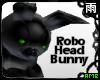 Green Robo Head Bunny