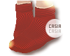 Flat Socks Red V1