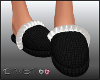 D- Black Slippers