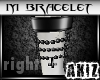 ]Akiz[ M Goth Bracelet R