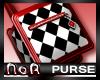 *NoA*Mod Purse Blk/Red/W