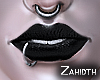 Deep Black Lipstick
