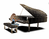 Gold Black Piano