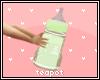 T| Big Green Baby Bottle