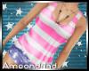 AM:: Stripe Tank Pink