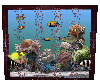 wall purplue aquarium