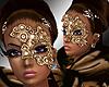 rD golden glamour mask