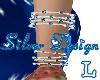 SW Xmas Silv Bracelet L