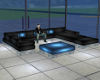 Black and Blue Couch