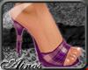 {A}Violet Plaid Heel
