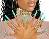 Bling Mint Nails