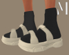 Cream Sandals + Socks