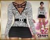 cK Dalila Dress Wht/Blk