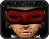 [Ex]red lace blindfold;