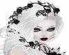 White Hair Black Roses