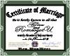 Our WeddingCert. Sticker