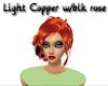 Light Copper w/blk rose
