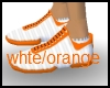 white orange steppers